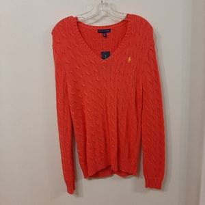 Coral glow Polo by Ralph Lauren sweater nwt
